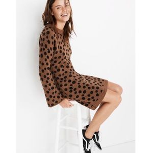 MADEWELL • leopard dot sweater dress